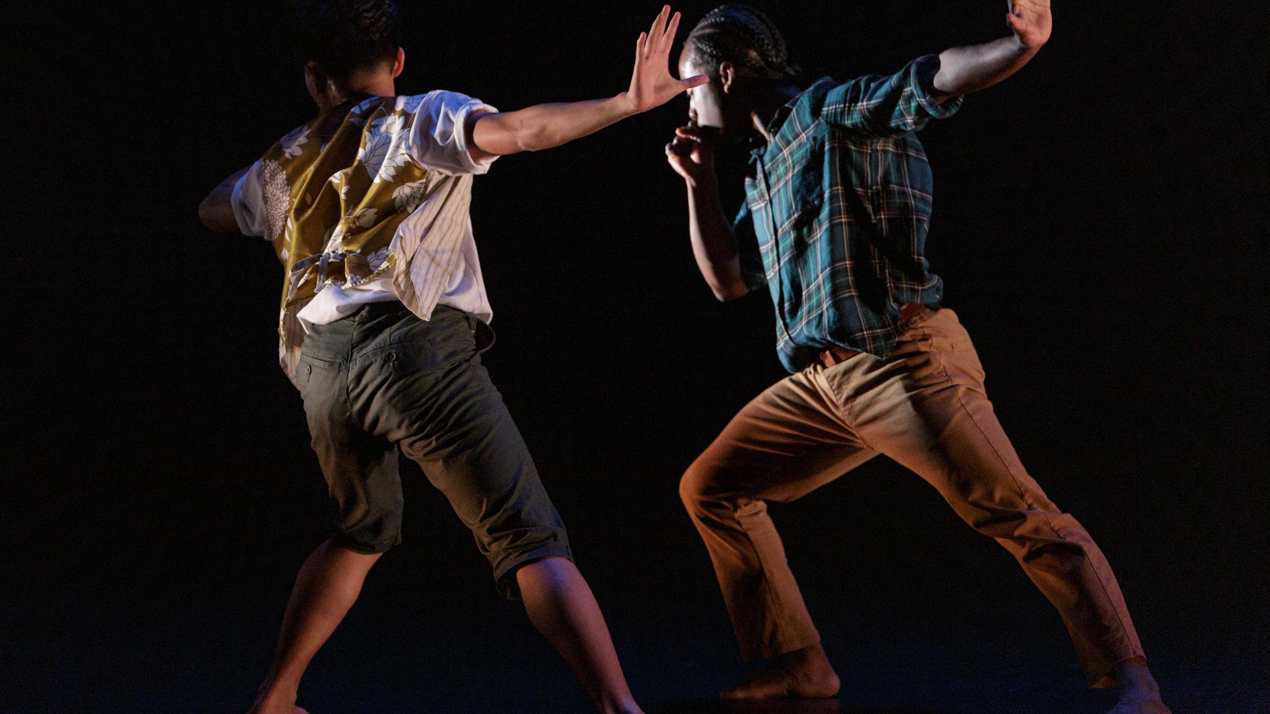 Jeffrey Lapira and Daniel Santokie in 'A Day of Light' Choreography by Hanna Kiel