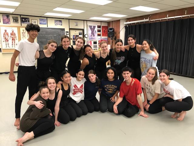 Cawthra dancers with Scott McCabe