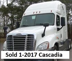 2017 cascadia sold