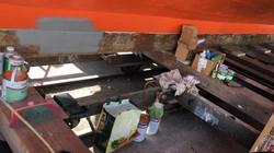 Appliying primer to the hull