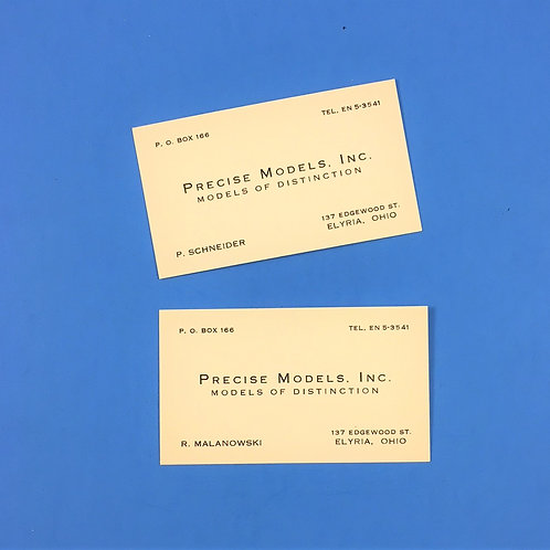 Precise Models Inc. founder's Business Cards