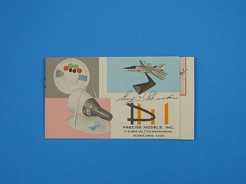 Precise Models Inc. Model Catalog- Gary Schneider autograph