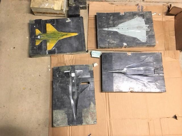 F-16 & F-16 XL plaster mold