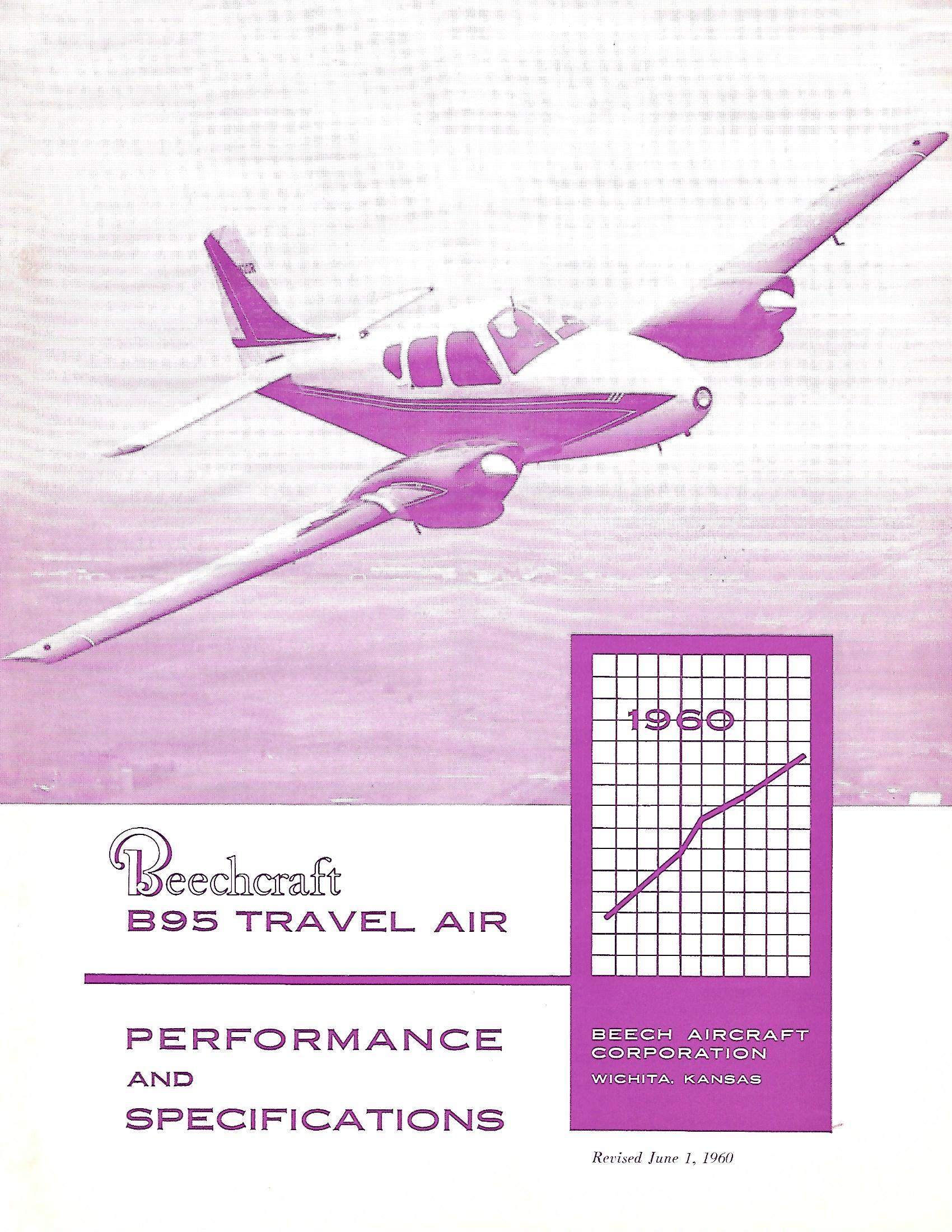 1960 Beech B95 brochure
