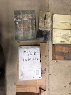 F-16 plaster mold cast