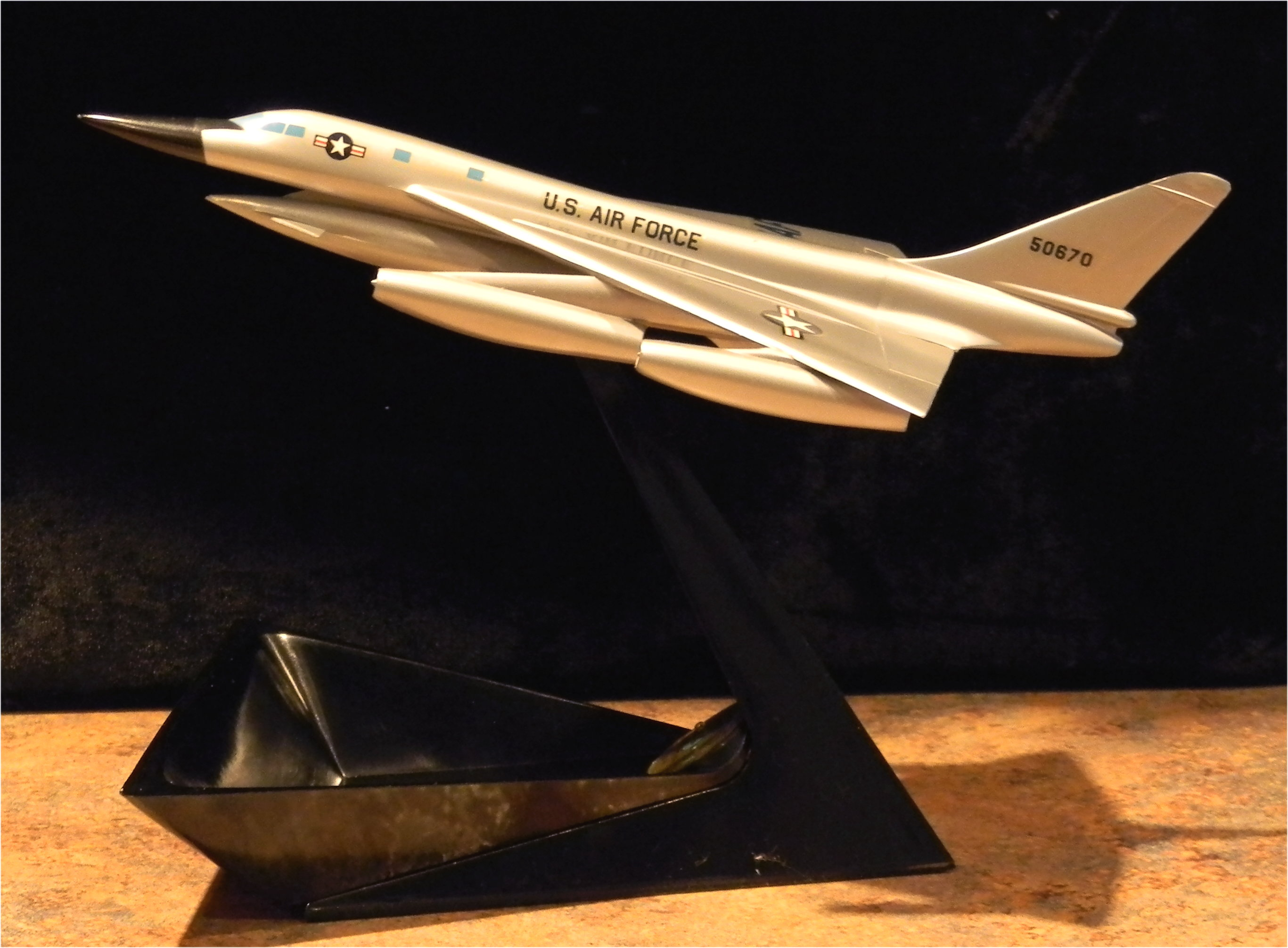 Convair B-58 with ashtray base