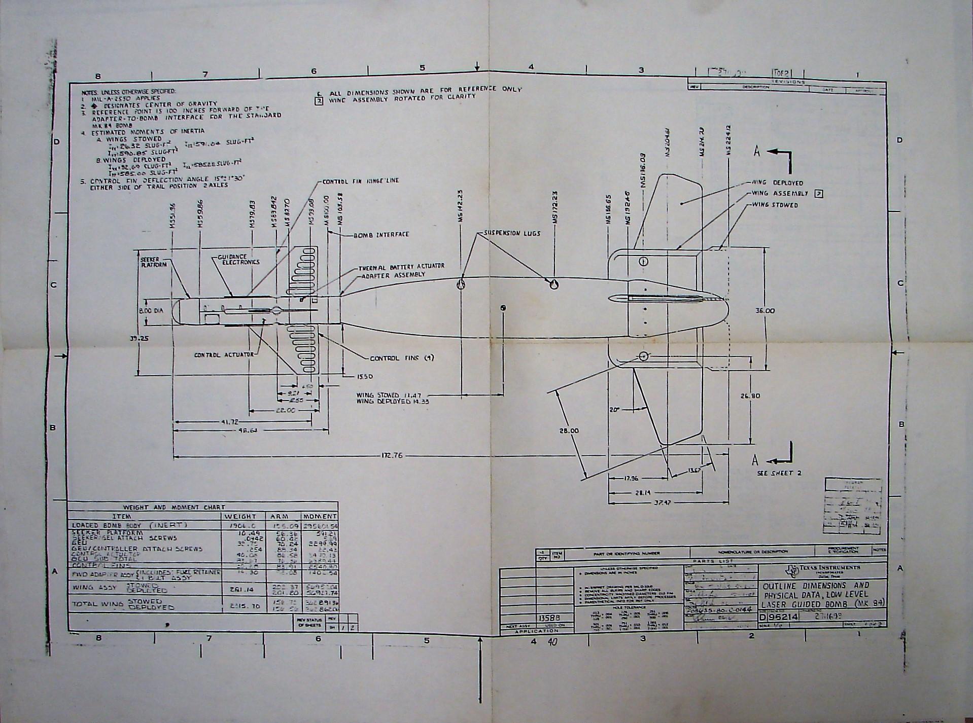 TI MK 84 LGB Schematic