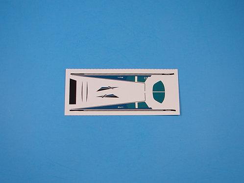 Piper Cherokee Blue Decal Sheet