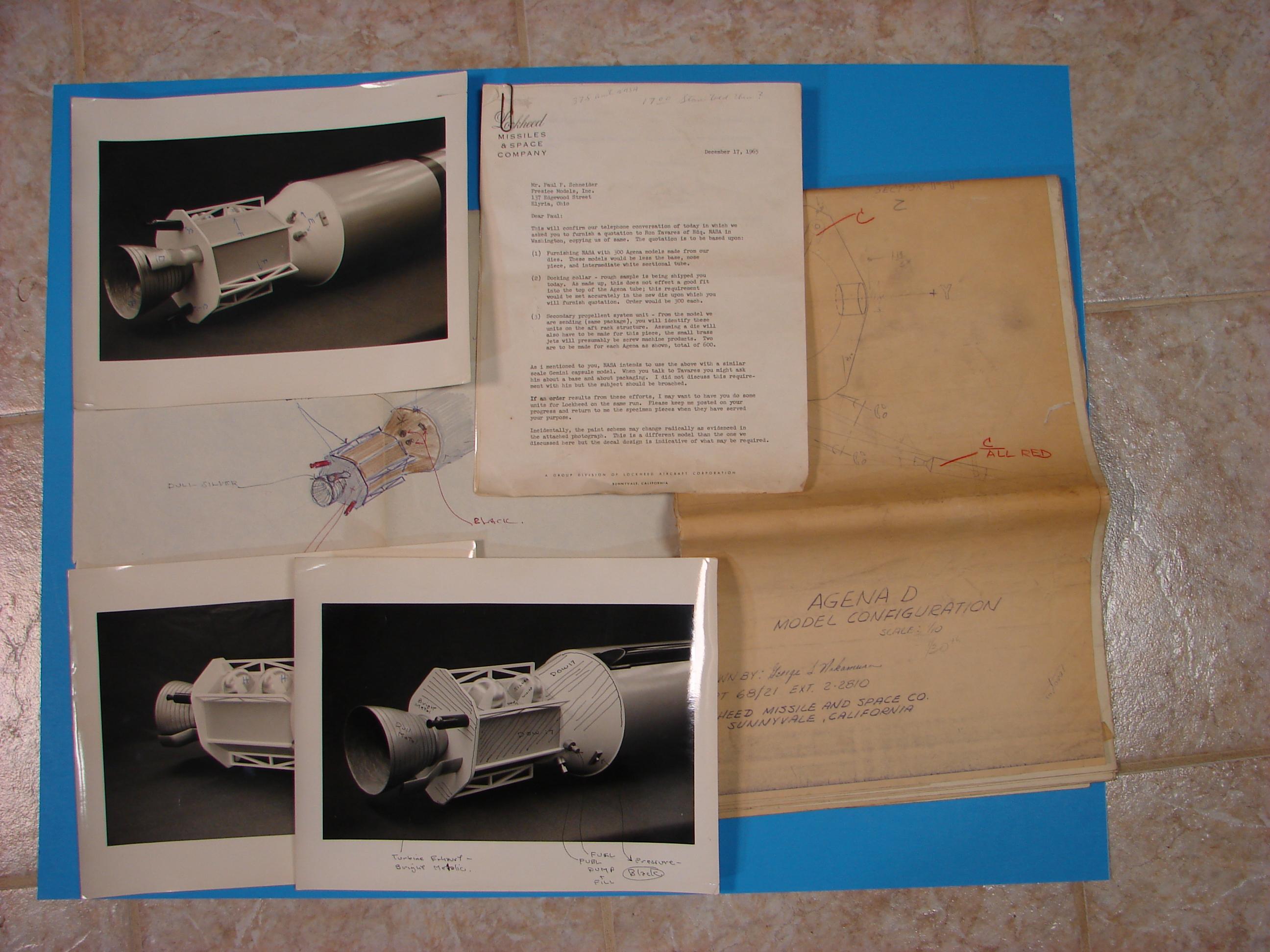 Lockheed Agena plans 12.16.65