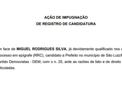 MPE entra com pedido de impugnação de candidatura de Miguel Rodrigues em São Luiz