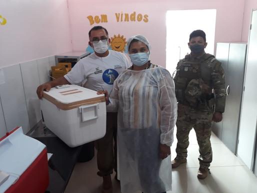 Municípios de Roraima recebem vacinas para aplicação de segunda dose de imunização contra a Covid-19