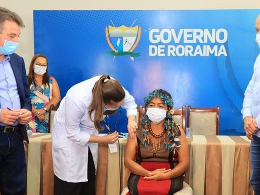 Denarium comemora início de imunização e fala do compromisso de vacinar toda a população