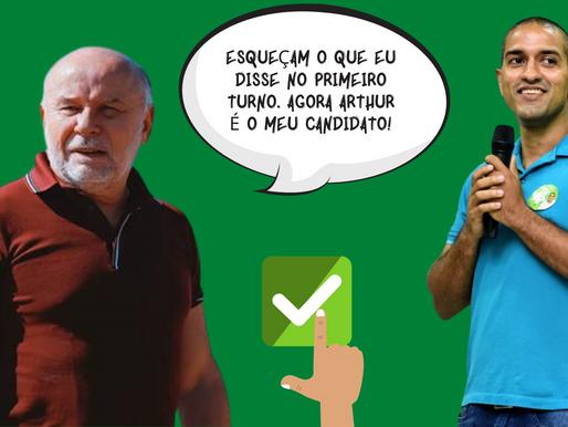 Luciano Castro esquece críticas feitas no primeiro turno e declara apoio a Arthur