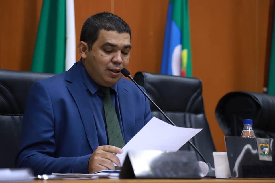 deputado Soldado Sampaio, presidente da Assembleia Legislativa de Roraima