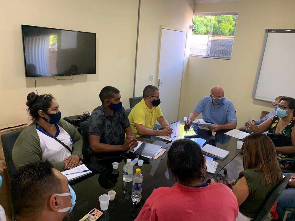 reunião do vereador Ítalo Otávio com agentes comunitários de saúde