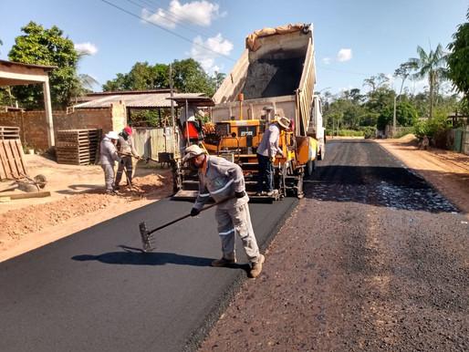 Ruas e avenidas de Rorainópolis recebem obras de infraestrutura urbana