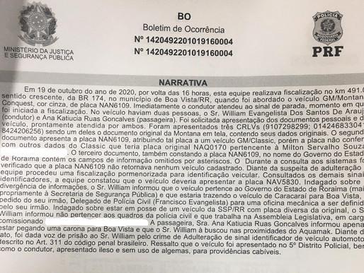 Irmão do presidente do Patriotas preso com viatura da Civil alega que trazia carro para oficina mecâ