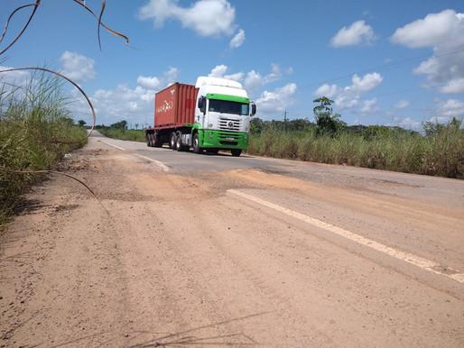 DEZ ANOS DEPOIS – Obra de reconstrução da BR 174 sul ainda está inacabada e já deteriorada