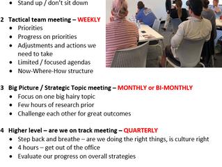 4 reasons for meetings