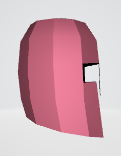 3D Helmet Back and Side