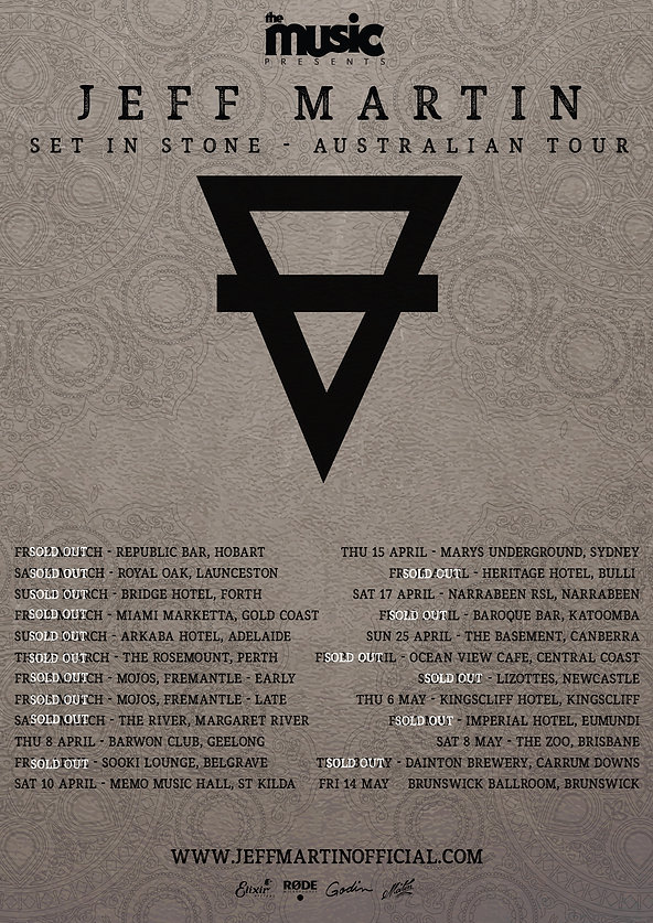 Tour Poster - All Dates Updated 6 April.