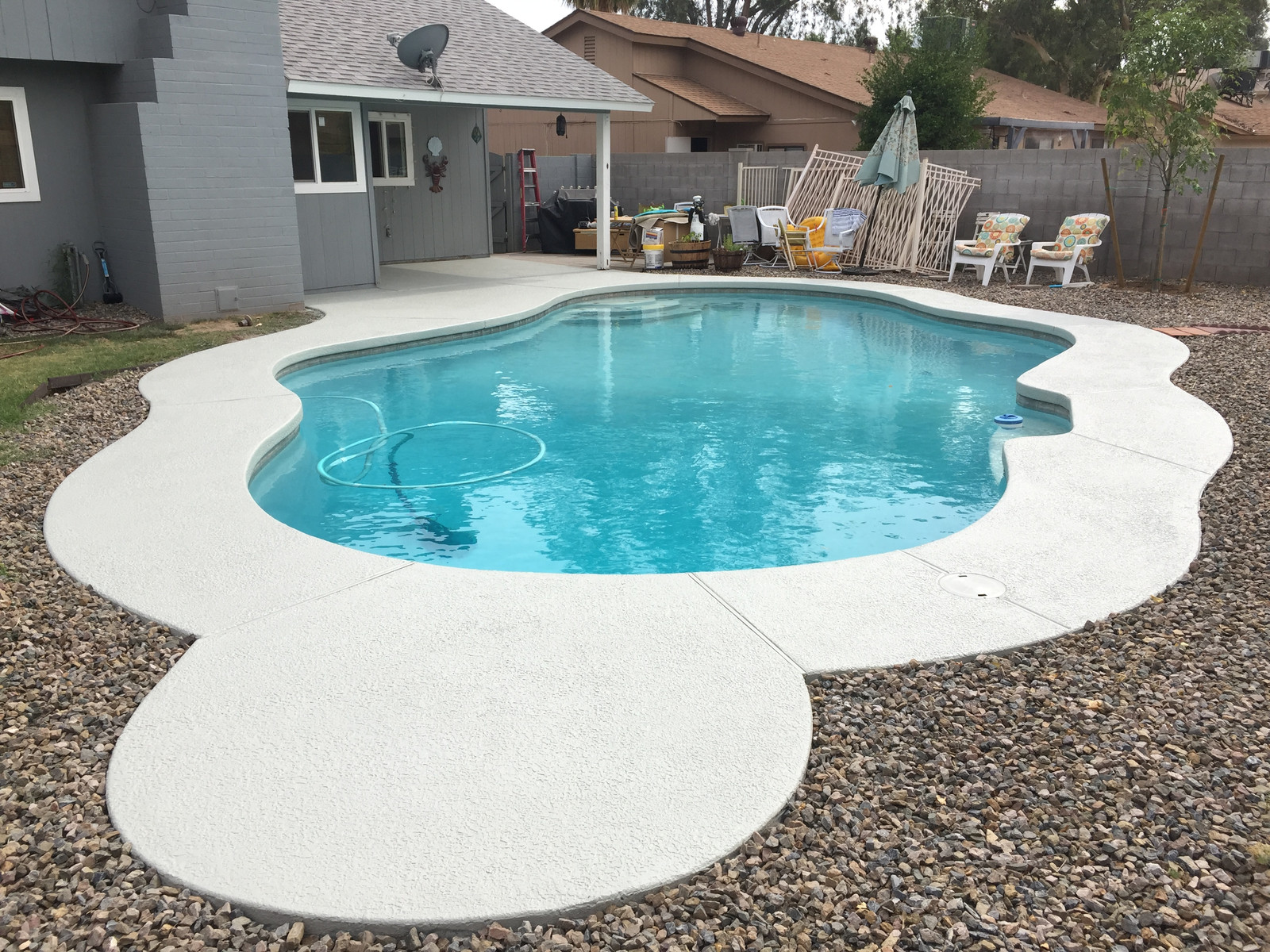 Cool Deck With Plaster Swimming Pool Finish Cool Deck Stamped Concrete Arizona Premium
