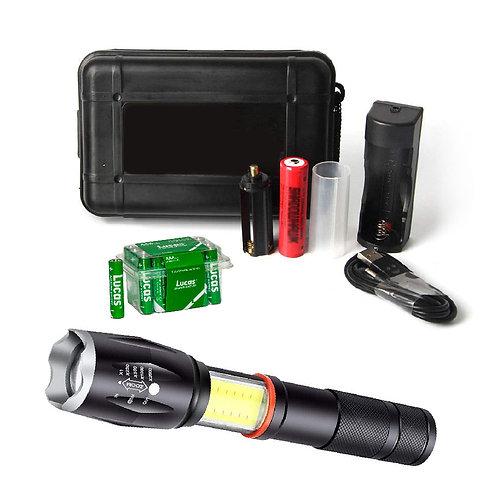 Tactical Flashlight/Lantern + AAA Batteries (24)