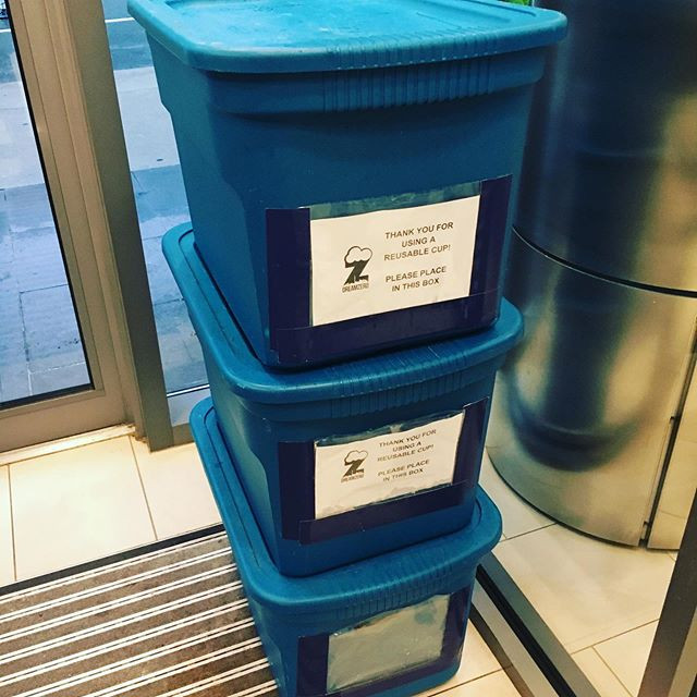 Reusable cups delivered and ready to par