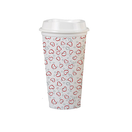 1000 x 16oz Cup w/ White Coloured Base and Lid