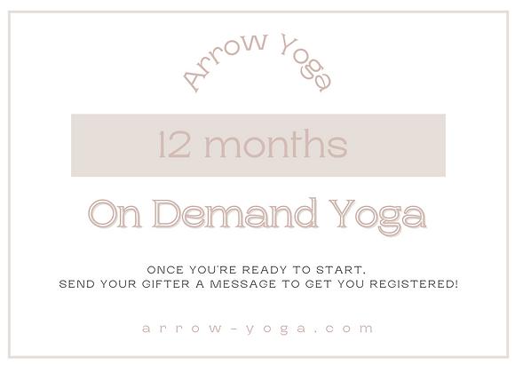12 Month Membership Gift Card