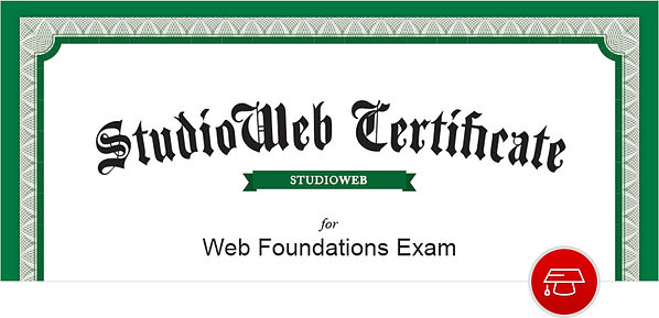 StudioWeb Programming Certification for Students