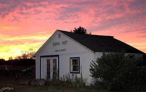 family farm sunset