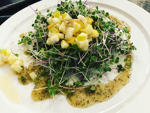 Microgreen Salad with Vinegratte