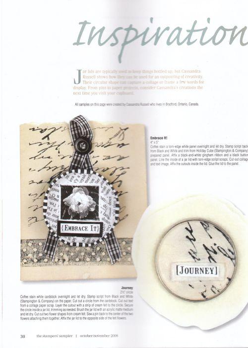 2008 cass art Stamper's Sampler OCT 2008 JAR LIDS