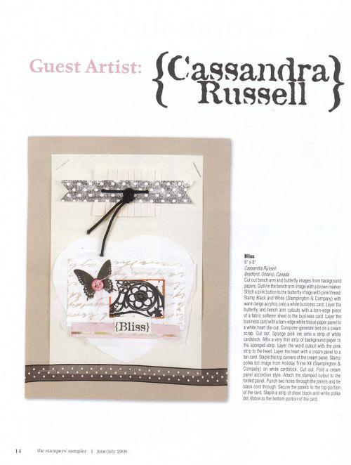 2008 cass art Stamper's Sampler June 2008 1COV GUEST