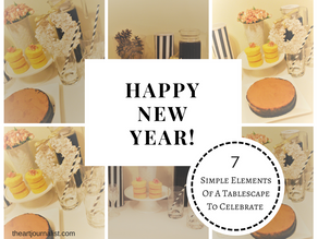 Simple Elements Of A Tablescape To Celebrate New Years Eve