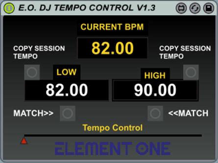 Element One's M4L DJ Tempo Mapper (v1.3)