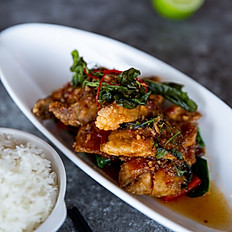 Fried Barramundi or Prawns