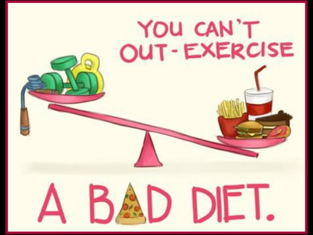 Want to Lose Weight? You cannot out exercise a bad diet