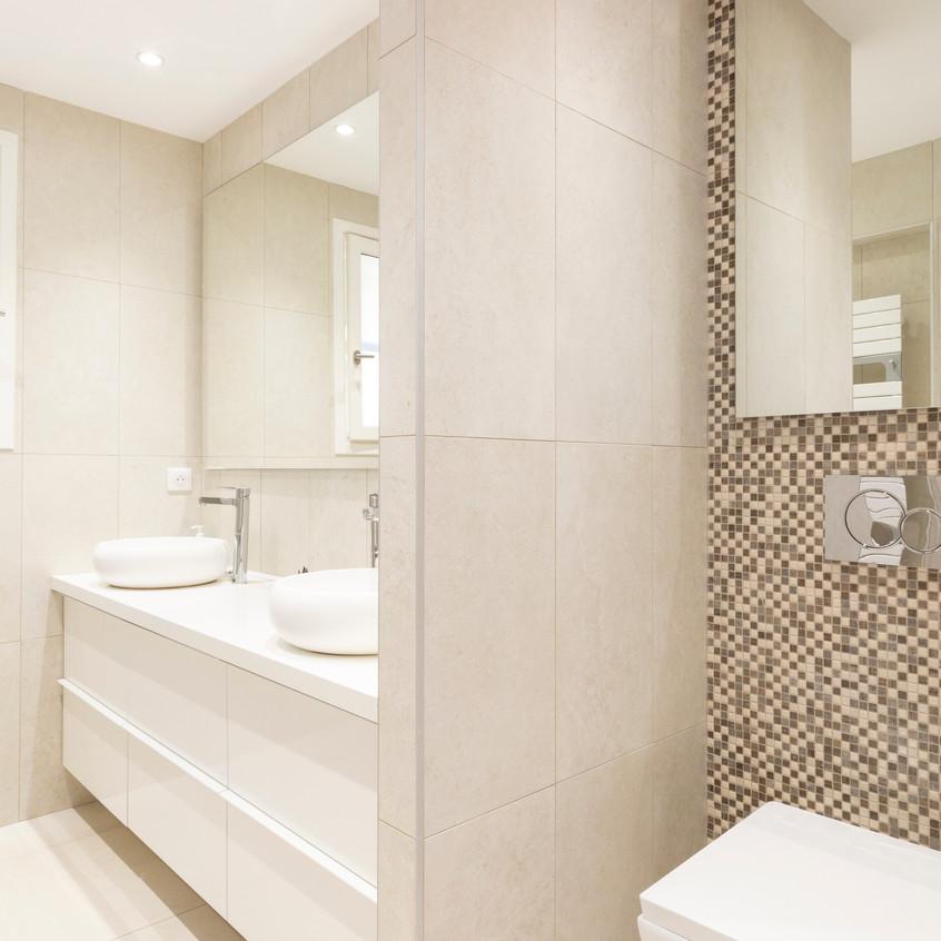 Salle d'eau invités pour une Villa située sur les Hauteurs de Nice.