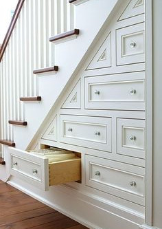 J'optimise l'espace sous mon escalier !