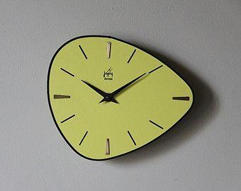 Horloge de cuisine en formica des années 50/60