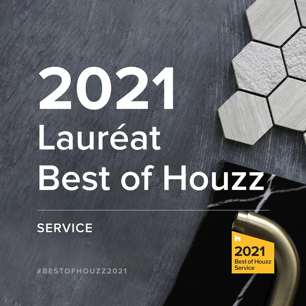 Casavog' lauréat Best of Houzz 2021 pour la 5ème année. Témoignage d'un professionnalisme exemplaire.