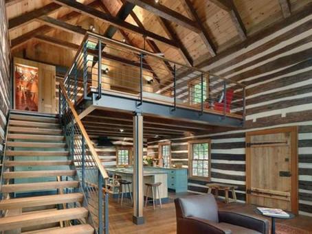 La mezzanine vue d'en haut.
