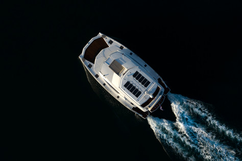 Luxury yacht shot - Aerial photography