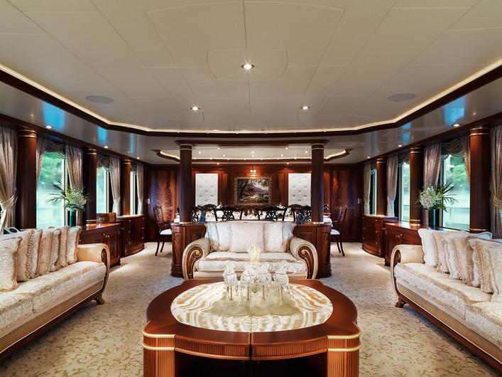 Aquamarina Superyacht interior shot.