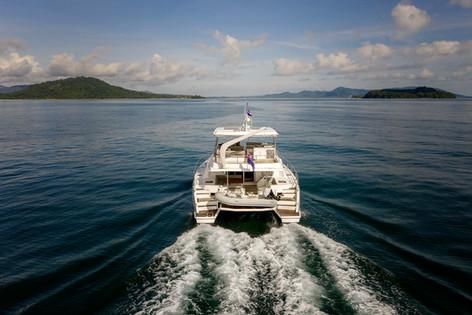 Luxury yacht shot - Aerial photography