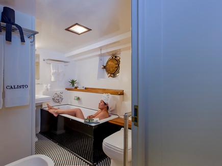 Luxury bathroom in Yacht