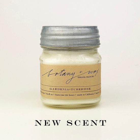 Gardenia + Tuberose 8oz Mason Soy Candle