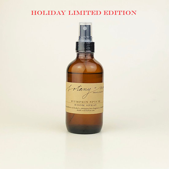 Pumpkin Spice   I   Holiday Edition  I  4oz. Room Spray